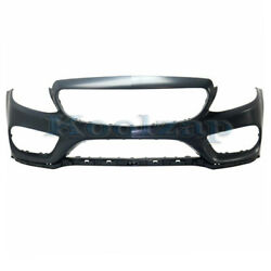 15-18 C-class W/amg Front Bumper Cover Assembly W/o Park Assist W/surround View
