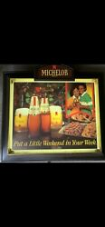 Vintage Michelob Beer African American Lighted Beer Sign Bar Store Advertising