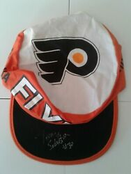 Philadelphia Flyers Signed Painters Hat 1990's Stretch Back Cycling Cap Nhl