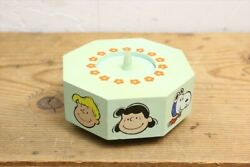 70s Snoopy Prototype Made Of Wood Candle Holder Music Box/vintage/noopy Charlie