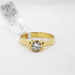 18ct Yellow Gold 0.52ct Diamond Solitaire Ring Val 5150 Size M 4210
