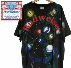 Rare Made In Usa Budweiser T-shirt Ball Double-sided Print