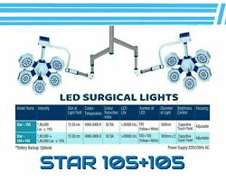 Led Operation Theater Light Double Arm Or Satellite Surgical And Examination Light