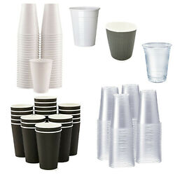 Disposable Plastic Cups Paper Coffee Cup Clear White Water Party Drinking Glass