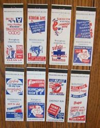 Westinghouse Complete Safety Set Of 8 Matchcovers Staunton West Virginia -e20