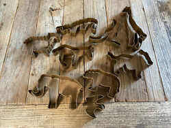 Noah's Ark Kit Martha Stewart By Mail 9 Copper Cookie Cutters  Complete.