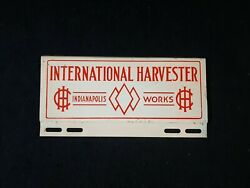 Ih International Harvester Indianapolis Work License Plate Tag Topper Farm Sign