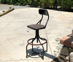 Operator's Stool Western Electric Telephone Chair Industrial Antique 1900s