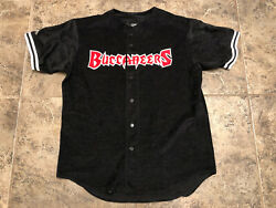 Vintage Majestic Nfl Tampa Bay Buccaneers Embroidered Baseball Jersey Sz L Usa