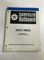 1980 Chrysler 20 30hp Outboard Service Manual Ob 3643, May Suit Other Models