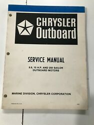 1980 Chrysler 9.9 15hp Outboard Service Manual Ob 3642, May Suit Other Models
