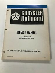 1980 Chrysler 3.5 4hp Outboard Service Manual Ob 3640, May Suit Other Models