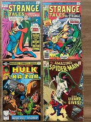 Strange Tales 183 And 187 Amazing Spiderman 76 Marvel Team Up 104 4 Issue Lot