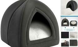 Cat Bed for Indoor Cats Cat Houses Dog Bed 15 19 inches 2 Small Dark Grey