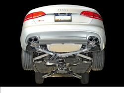 Awe For 10-16 Audi B8 S4 3.0t Touring Edition Exhaust Chrome Silver Tips 90mm