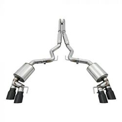 Awe For 18+ Mustang Gt Touring Edition Cat-back Exhaust Quad Diamond Black Tips