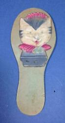 Vintage Cardboard Noisemaker Clapper Paper Toy CAT Germany Halloween New Year