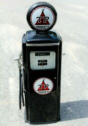 Mid Century Tokheim Model 300 Gas Pump With Tp Products Logo And Globe
