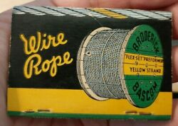 Broderick amp; Bascom Rope Co. St. Louis For Heavy Lifts Vintage Matchbook $1.99