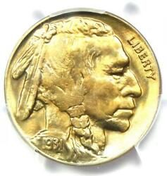 1931-s Buffalo Nickel 5c Coin - Certified Pcgs Ms66+ Plus Grade - 1,750 Value