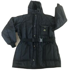 Refrigiwear Insulated Work Parka Coat With Hood Mens 3x. Black New.   Clo