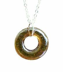Recycled Vintage Clorox Bottle Glass Hoop Necklace