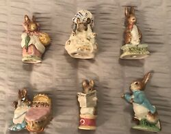 Beatrix Potter's Figurines Vintage Lot Of 6 - F. Warne And Co. Beswick, England
