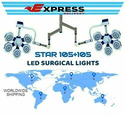 Star 105 + 105 Double Examination Surgical Ot Light Operation Theatre Ceiling