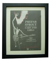 Prefab Sprout+cars And Girls+poster+ad+rare Original 1988+framed+fast Global Ship