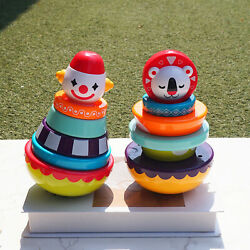 Baby Stacking Rings Weeble Wobble Toys Tower Toys For 3 6 9 12 Months Gifts