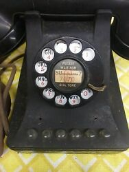Bell System Western Electric 4line Metal Rotary Office Desk Phone Original Cord