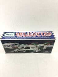 2001 Hess Toy Truck Helicopter With Motorcycle And Cruiser 11420