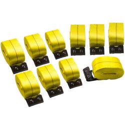 10 Pack Heavy Duty 4 X 30and039 Winch Strap Loop End Flatbed Truck Trailer Tie Down