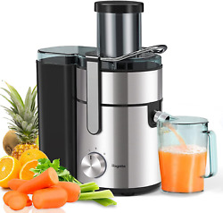 Bagotte Large Juicer Machines 1000w 85mm Wide Mouth Centrifugal Juicers Easy C