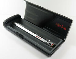 Rotring 600 Silver-gold Old Style Fountain Pen M, Made In Germany New Old Stock