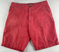 American Eagle Outfitters Shorts Size 36 Mens Red Cotton
