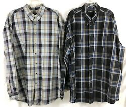 Cotton Traders Shirts Long Sleeve Button Down Plaid Lot Of 2 - Men Size 3xlt