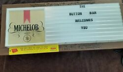 Vintage 33 Inch Michelob Tavern Bar Lighted Message Menu Sign Board W/letters