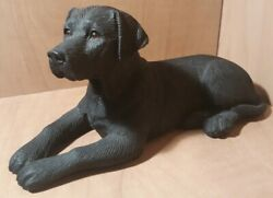 K-9 Kreations Hand Made Fine Detail Black Lab Dog Figurine 1998 Made In Usa