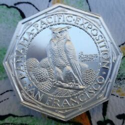 2 Oz. Pan-pac Expo Octagonal Thick 42mm Bu Round .999 Fine Silver