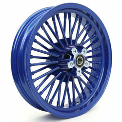 For Harley Electra Glide Flht Fat Boy 16and039and039x3.5and039and039 Fat Spoke Blue Front Wheel Rim