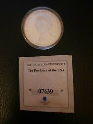 Limited Edition American Mint President Barack Obama Silver Plated Coin