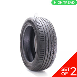 Set Of 2 Used 235/50r18 Dunlop Conquest Sport A/s 97w - 8-9/32
