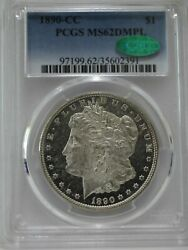 1890-cc 1 Morgan Pcgs Ms 62dmpl Cac Approved Nice White Mirror