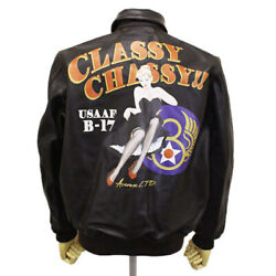 Avirex 6101049 A-2 Classy Chassy Leather Jacket 55brown 40