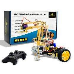 Mechanical Arm Robot Car Starter Kit W/ps2 Control Bluetooth Arduino Android Ios