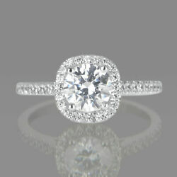 1.65 Ct Real Round Cut Diamond Engagement Ring 14k Rose Gold D/si1