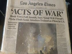 9/11 Los Angeles Times Newspaper September 12 And 13 2001