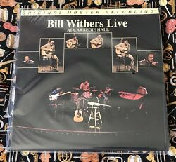 New Bill Withers - Live At Carnegie Hall Double Vinyl Lp Ltd 3376 Mfsl Sealed