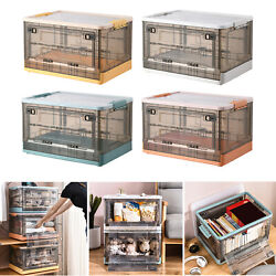 Folding Storage Boxes Clip Locking Container With Lid Clothing Stash Home